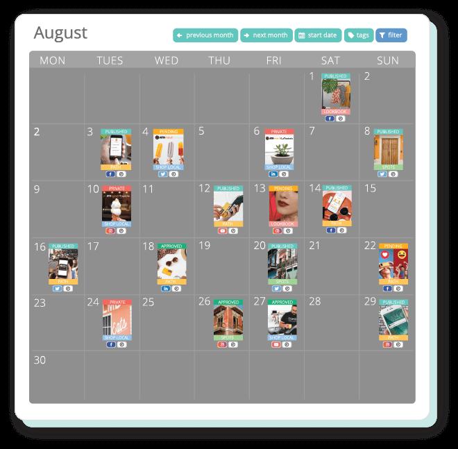 content marketing social media calendar planner