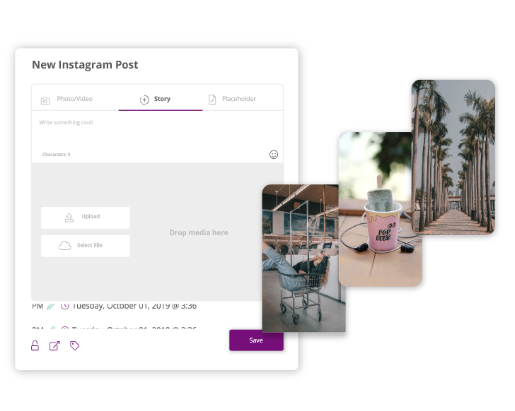 Easy visual interface for Instagram Stories lets your team.