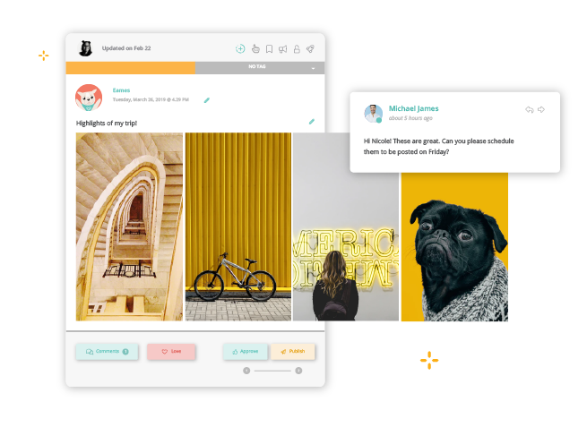 Produce Instagram Stories in real-time or remotely from different time zones.